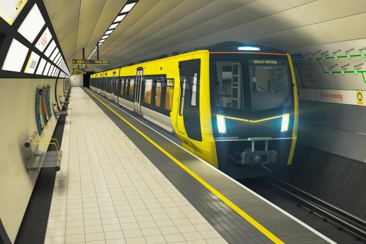 Merseyrail underground train