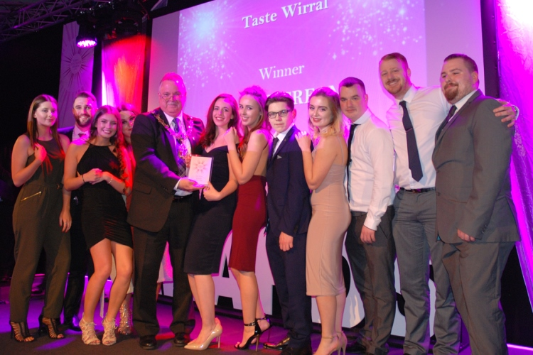 The team from New Brighton's Caffe Cream at the 2016 awards