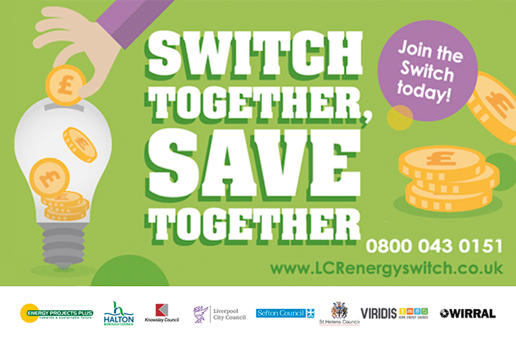 Switch together, save together - collective switch graphic artwork.
