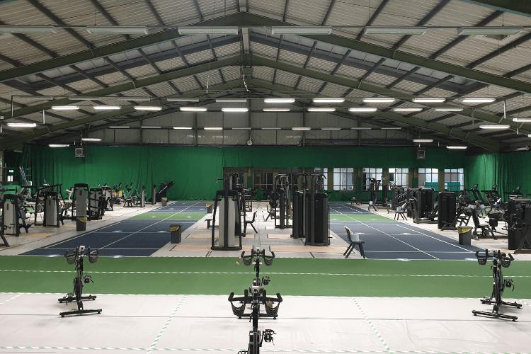 Gym equipment in Bidston Tennis Centre