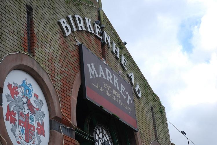 Image of Birkenhead market exterior sign