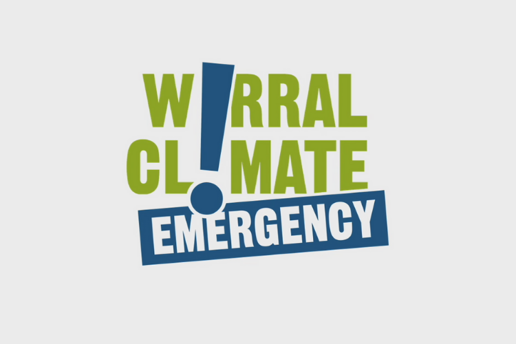 White/grey background with the Wirral Climate Emergency logo