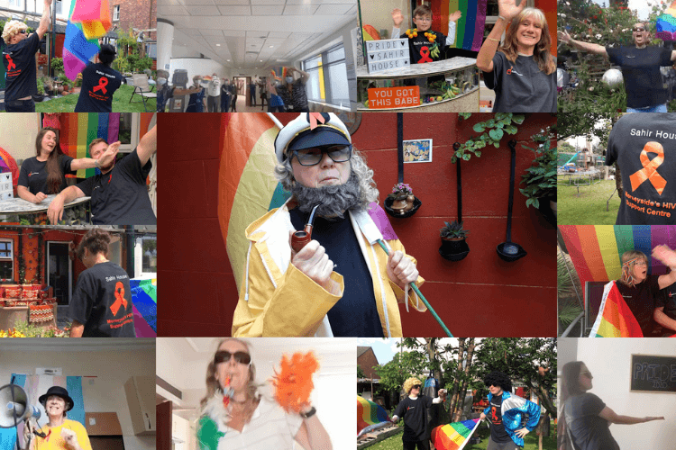 A collage of photos of people waving, dancing and celebrating for MarchOnline last year