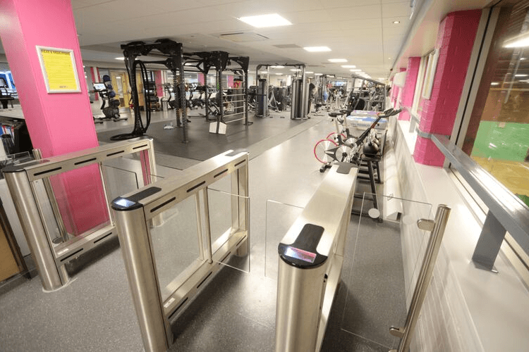 Picture of the gym at The Oval Leisure Centre and taken at the entrance to the gym