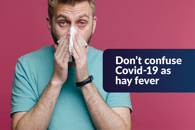 Don't confuse COVID-19 as hay fever