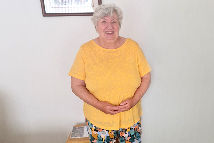 A picture of Sheila, a Wirral resident, who has used the falls prevention service.