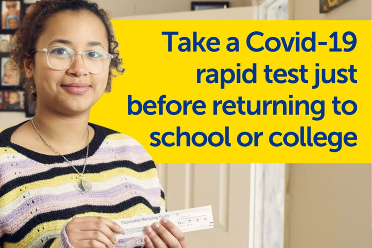Take a Covid-19 test before returning to school