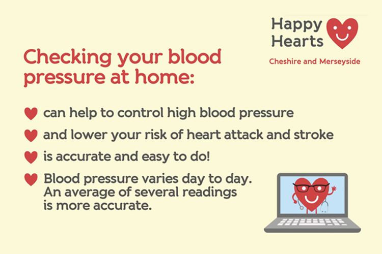 Checking your blood pressure at home can lower the risk of heart attack and stroke