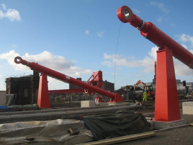 Dock bridge replacement project nears key milestone ...