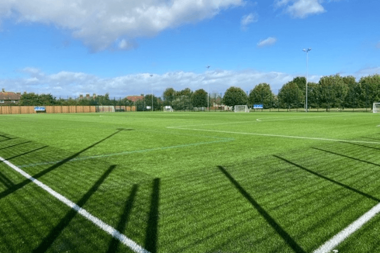 Outdoor football pitch at Wirral Leisure centre