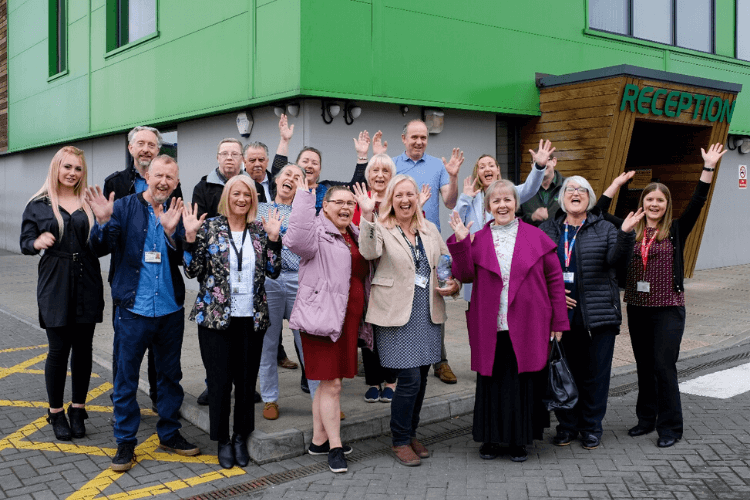 Last year's fund recipients at an event in Gillmoss Recycling Discovery Centre, Liverpool