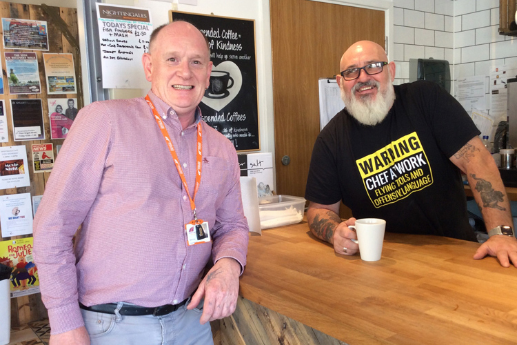 Community: Wirral Ways staff at Nightingales Café.