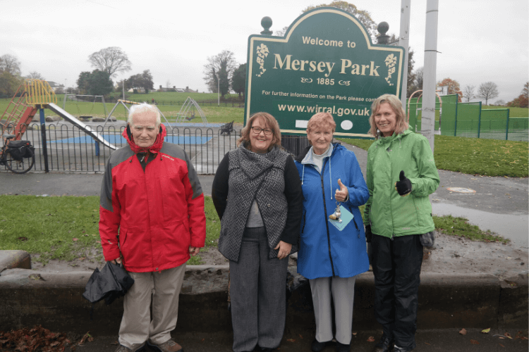 Cllr Julie McManus with Friends of Tranmere parks at Mersey Park