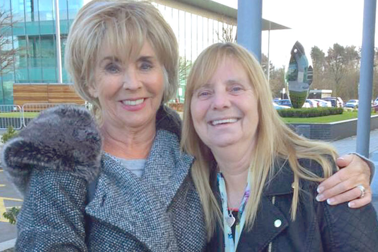 Sue Johnston with Margaret Aspinall
