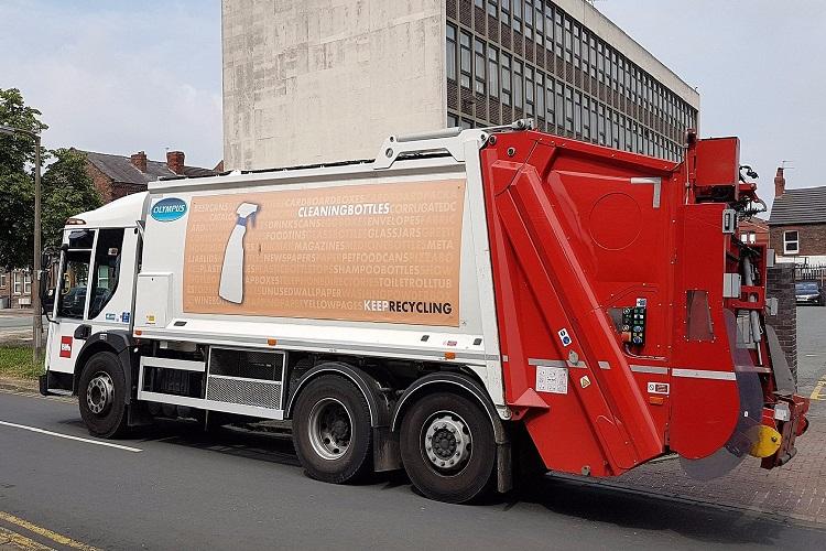 Recycling bin wagon