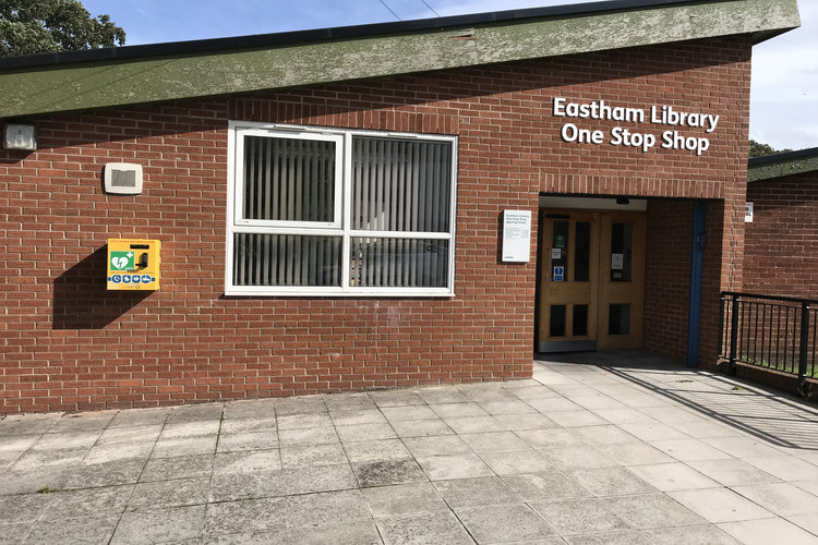 New defibrillator fitted at Eastham Library