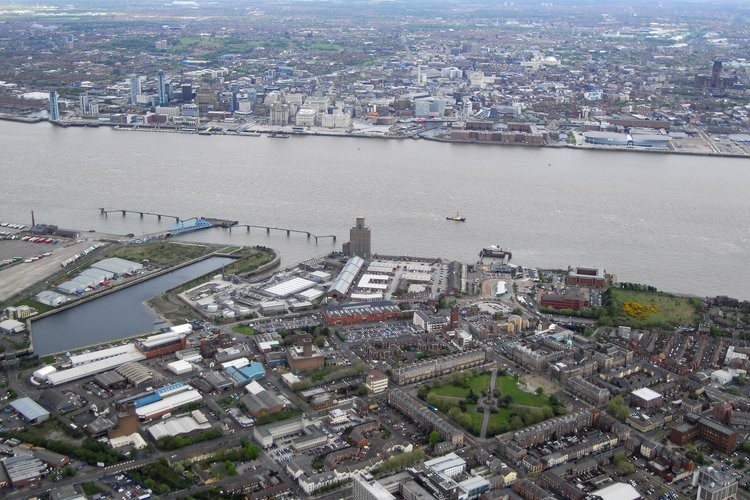 Aerial view of Wirral