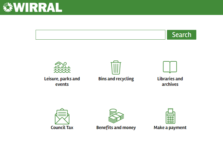 wirral.gov.uk home page